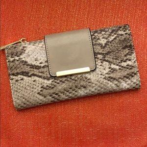 ALDO beige mosaic wallet